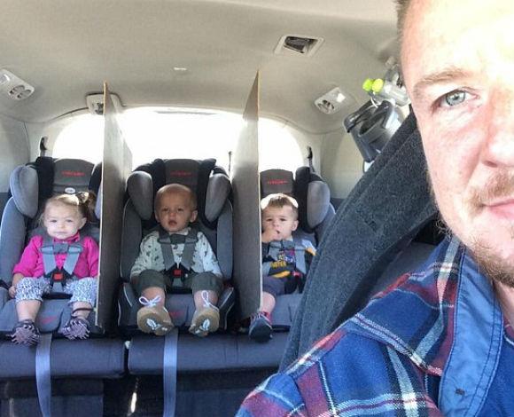 والد لثلاثة صغار يدعي أنه وجد الحل الأنسب لينعم بالسلام أثناء القيادة