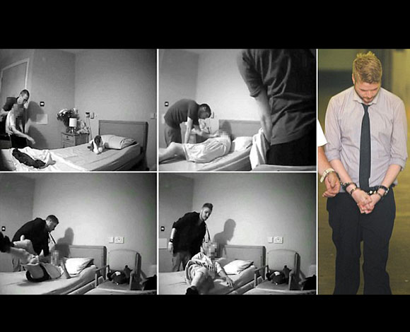 بالفيديو- سجن 3 ممرضين صُوّروا يعتدون على عجوز