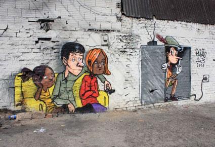 إبداع فن الشارع في صور