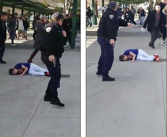 مراهق يهدد زملائه في المدرسة بسكينين .. فأطلقت الشرطة النار عليه