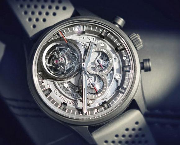 ساعة Zenith El Primero Tourbillon Skeleton Intense Black من أجمل الساعات والأكثرها أناقة!