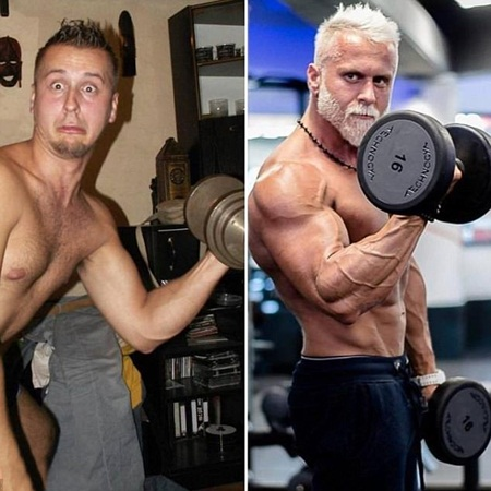 يفعل أي شئ ليبدو أكبر سنًا