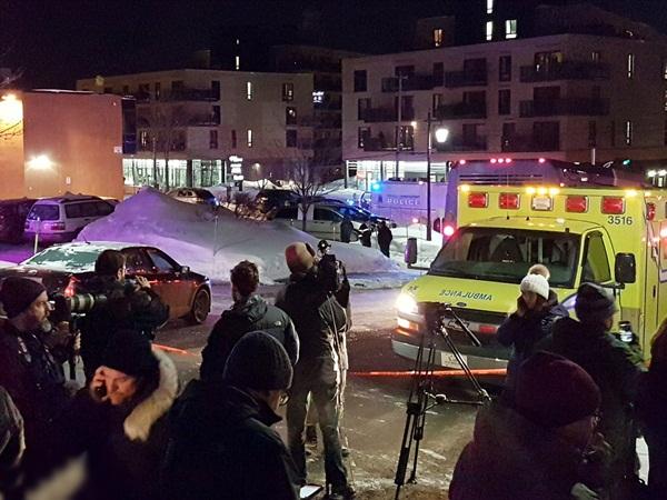 القبض على مشتبه بهم في حادث إطلاق النار على مسجد في كيبيك