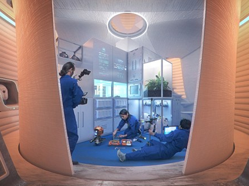 مشاركو مسابقة ناسا النهائيين يكشفون عن شكل منازل المريخ