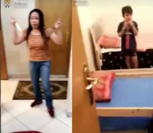 بالفيديو: خادمة فلبينية مسلحة بسكين تحتجز طفلًا سعوديًا!
