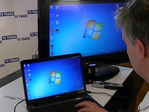توصيل الكمبيوتر بالتلفزيون