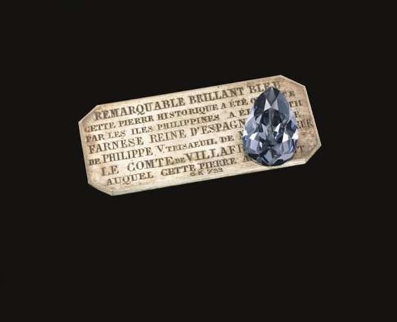 الماسة الزرقاء الملكية تباع بمبلغ قدره 6.7 مليون دولار !