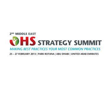 القمة الثانية ل OHS Middle east (الصحة والسلامة في العمل)