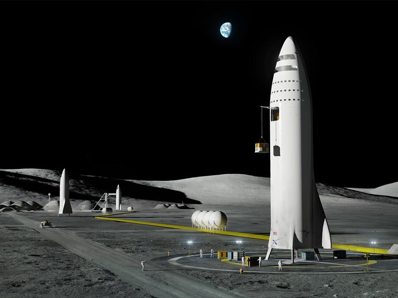 ايلون ماسك يتباهى بالجزء الرئيسي الخاص بسفينة فضاء BFR