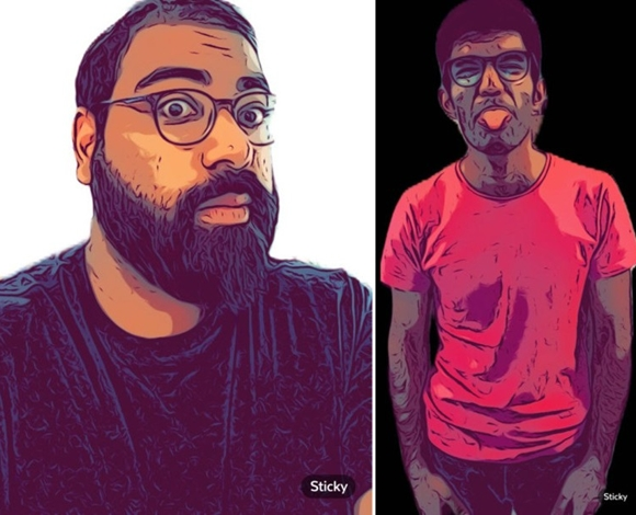 Ra2ed يُعرفك إلى الطريقة التي يُمكنك من خلالها تحويل صورتك السِلفي إلى ملصق