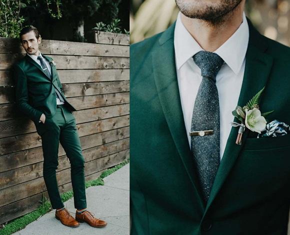 البدلة خضراء اللون... هكذا يمكنك اقتناء واحدة وارتداؤها