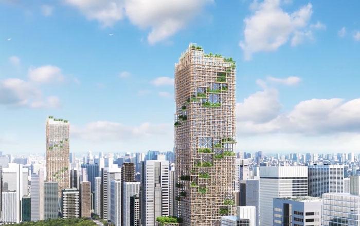 طوكيو تنشئ أطول ناطحة سحاب خشبية في العالم