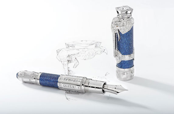 مونت بلانك تنتج قلماً فريداً بسعر قدره 1.8 مليون دولار