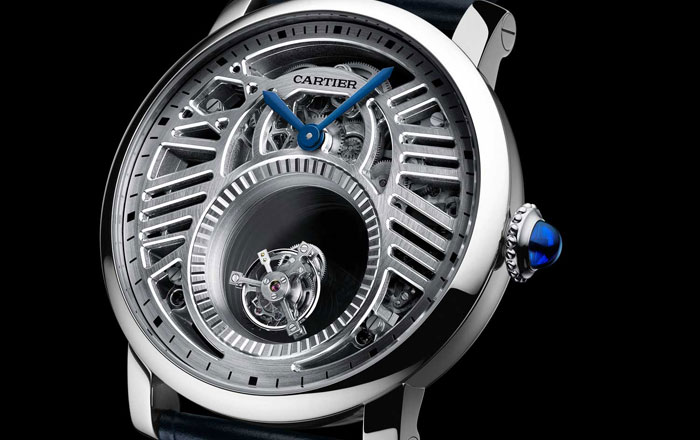 كارتييه تنتج 30 نسخة من ساعة Rotonde Double Tourbillon Mystérieux Squelette