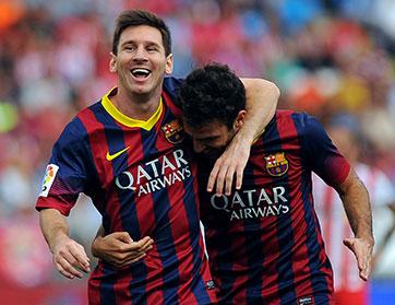 """""""برشلونة"""" يسحق أحلام """"مانشستر سيتي"""" ويصعد رسميا الى الدور ربع النهائي"""