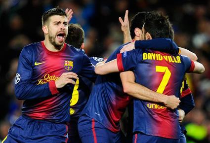 برشلونة دخل تاريخ دوري ابطال اوروبا