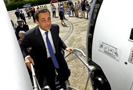 طائرة الرئيس السابق نيكولا ساركوزي الخاصة