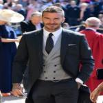 بالصور: ديفيد بيكهام الضيف الأكثر أناقة وتألقًا في الزفاف الملكي