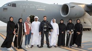 الممثّل العالمي توم كروز يصور فيلم 'مهمة مستحيلة: السقوط' في أبوظبي