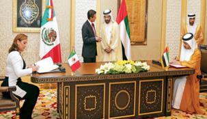 توقيع 10 اتفاقيات ومذكرات تفاهم بين الإمارات والمكسيك