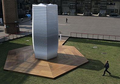 مبنى يحوّل الهواء الملوّث إلى مجوهرات!