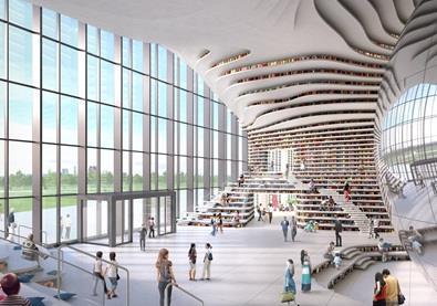 بالصوَر: أضخم مكتبة في العالم تتسع لـ1,2 مليون كِتاب