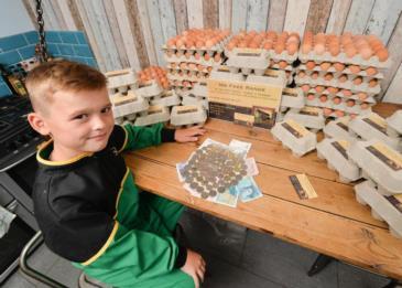 رائد أعمال صغير يربح 13 ألف إسترليني سنوياً من عمله في بيع البيض