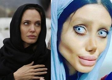 فتاة إيرانية تحوّل نفسها إلى أنجلينا جولي .. فهل نجحت