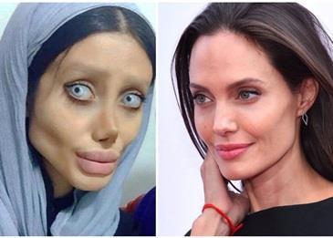 شبيهة أنجلينا جولي الإيرانية تفجر مفاجأة