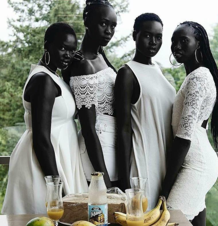 أربع جميلات سودانيات يثرن الجدل على مواقع الانترنت