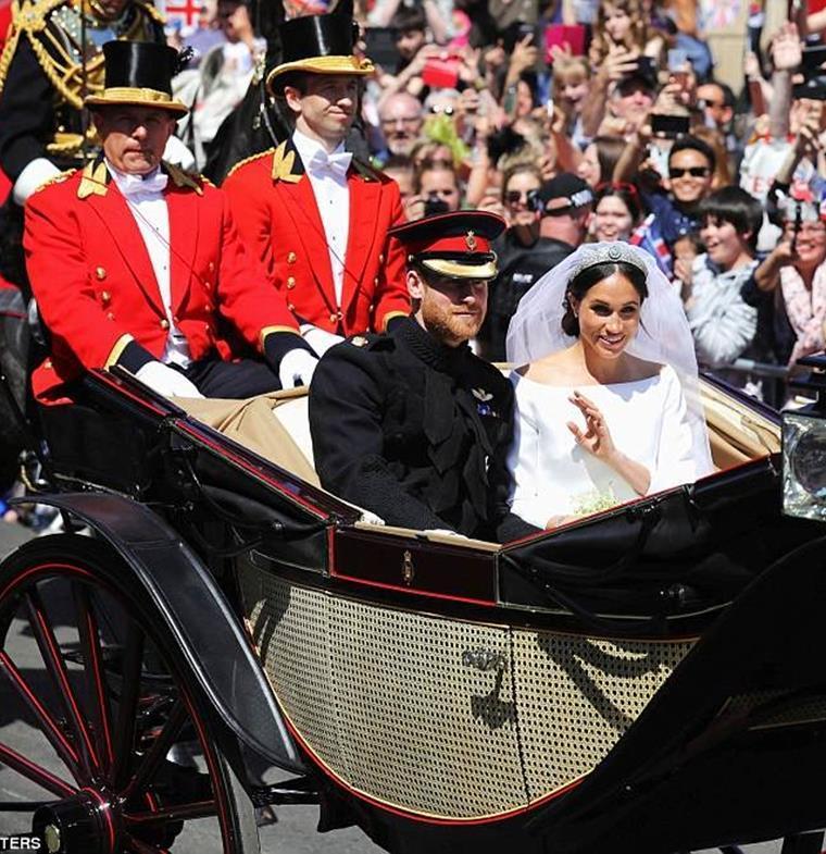 بالصور: الزفاف الأسطوري للأمير هاري وميغان ماركل