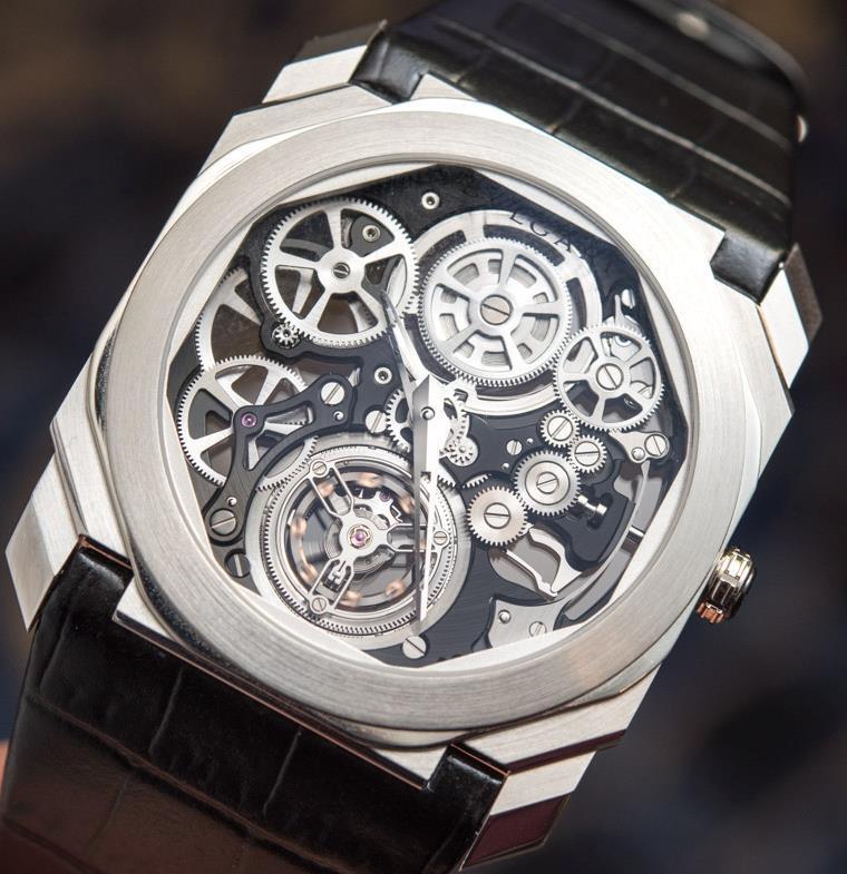 بلغاري تكشف عن ساعتها الجديدة Octo Finissimo Skeleton Titanium