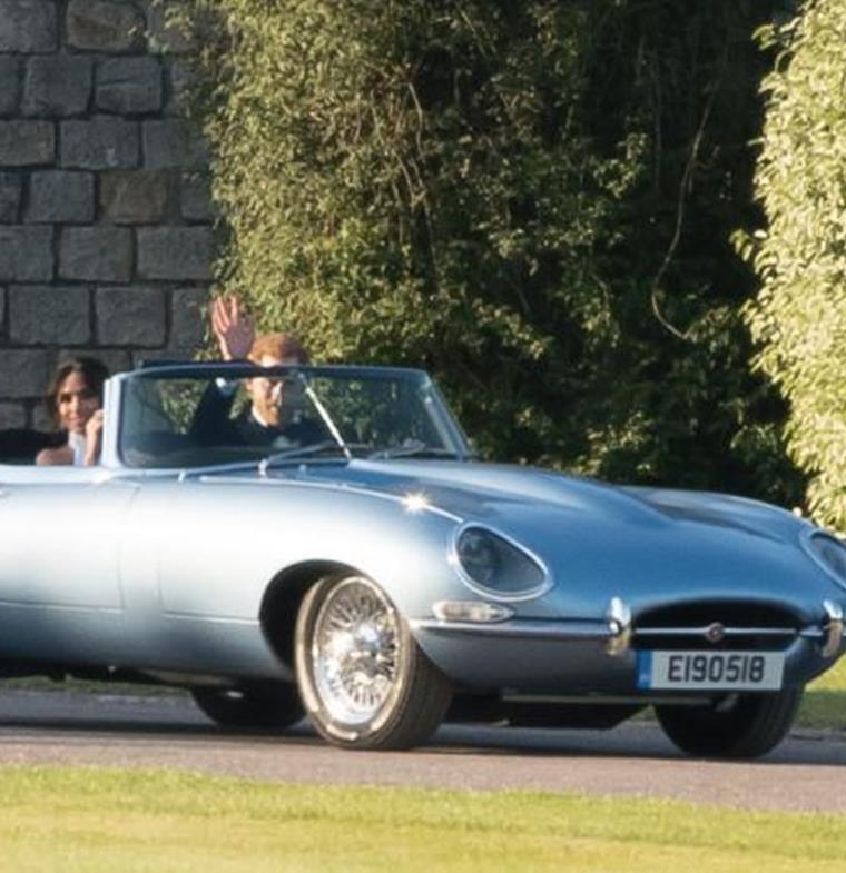 سيارة Electric Jaguar تسرق الأضواء من العرس الملكي
