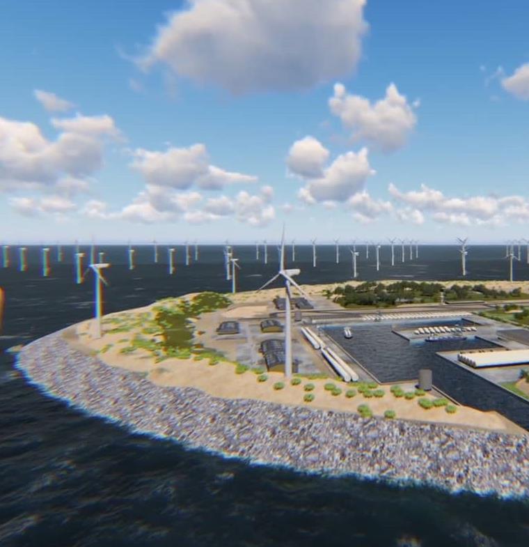أكبر جزيرة صناعية لتوليد الرياح في العالم تفتتح في 2027