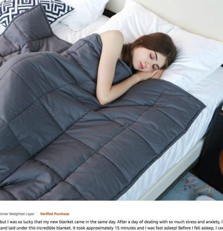 بطانية تقلل من مستويات القلق وتساعد على النوم بصورة أفضل