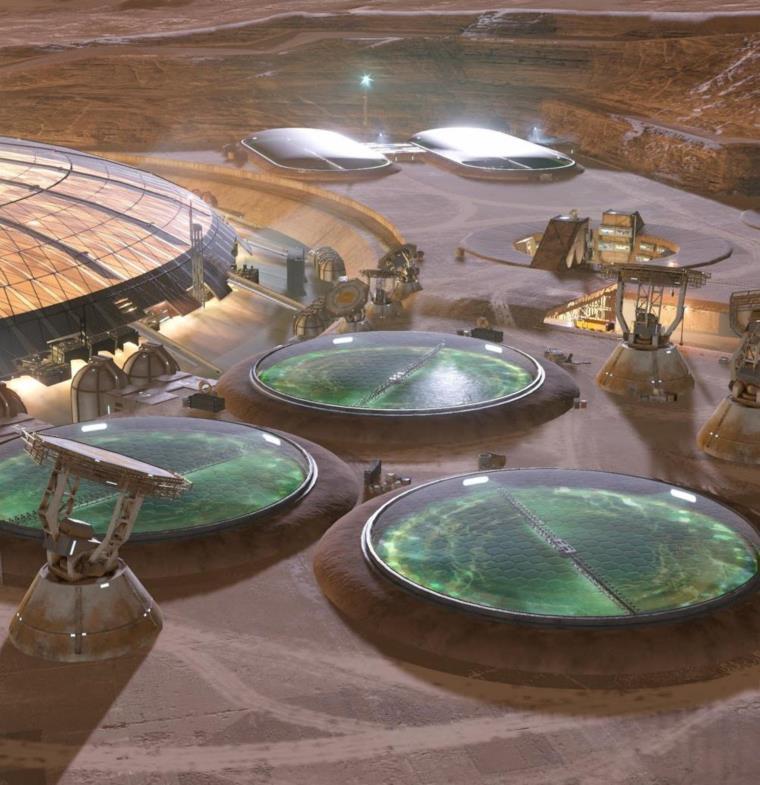 فيديو بتقنية الواقع الافتراضي يبرز شكل مستعمرة الإمارات على المريخ