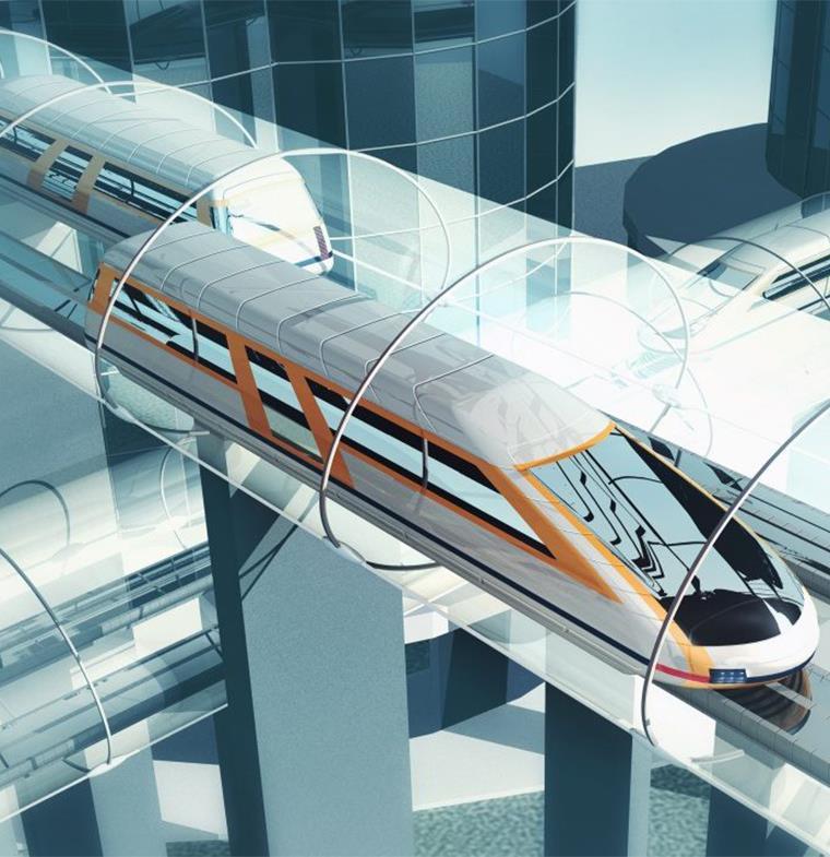 نموذج أولي من نظام النقل هايبر لوب في دبي