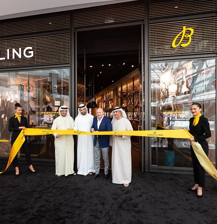 """للمرة الأولى في الشرق الأوسط... بريتلينغ تكشف عن عائلة """"بريميير كولِكشن"""" الجديدة كلّياً بمناسبة افتتاح متجرها في دبي"""