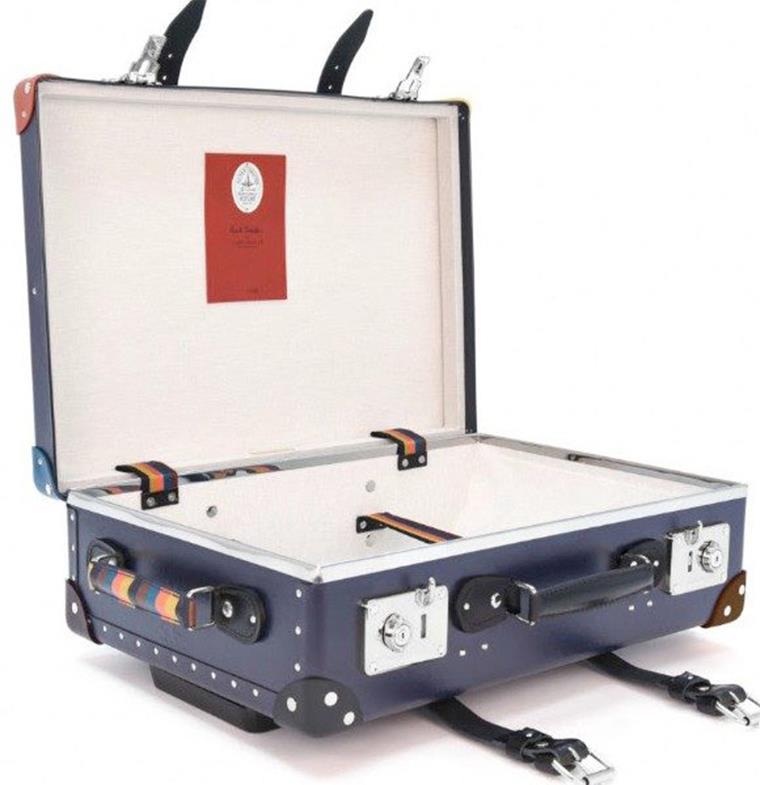 تعاون مميّز بين بول سميث وGlobe Trotter لإطلاق حقيبة سفر مذهلة