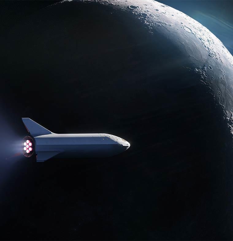 سبايس إكس تعلن عن انطلاق أول رحلاتها السياحية للقمر