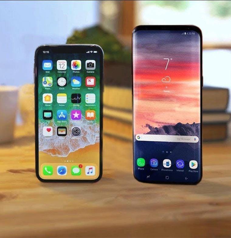 في مقارنة بين هاتفي سامسونغ غالاكسي إس 9 وإس 9 بلس وآيفون إكس... ماذا تختار؟