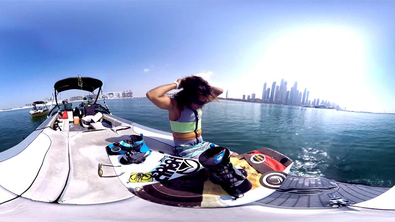 إستمتع بتجربة التزلج على الماء مع ساعة Gear S3 الذكية