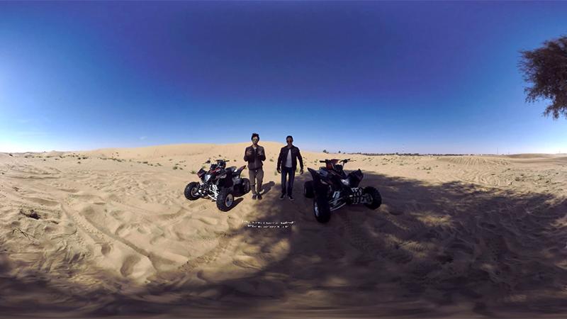 تجربة فريدة مع ساعة Gear S3 الذكية في صحراء دبي